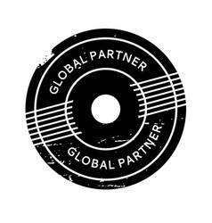 Global partner rubber stamp vector