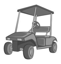 Golf car icon gray monochrome style vector