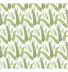 Grass plants seamless pattern sukkot green vector