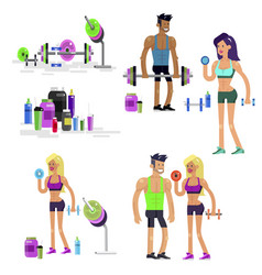 gym design concept gym design concept fitness vector image