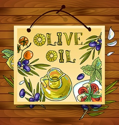 hand-draw beautiful poster olive oil vector image