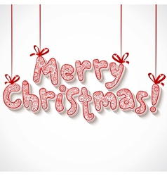 Hand lettering ornate Merry Christmas sign vector image