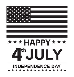 happy july independence day vector image
