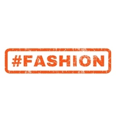 Hashtag Fashion Rubber Stamp vector