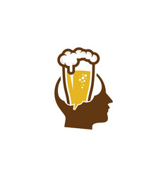 Head beer logo icon design vector