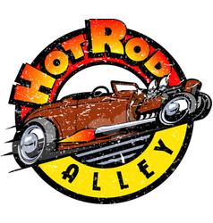 hot-rod-color-wtexture-jpg vector image