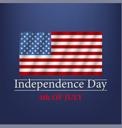 independence day 4th july text vector image