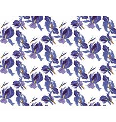 Iris flowers pattern vector image