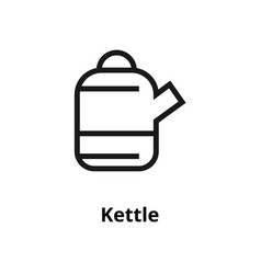 kettle line icon vector image
