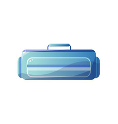 light blue bag for traveling front view vector image