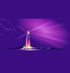 lighthouse hope sailor vector image