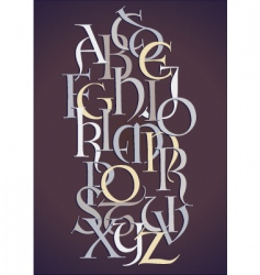 Lombard alphabet composition vector image