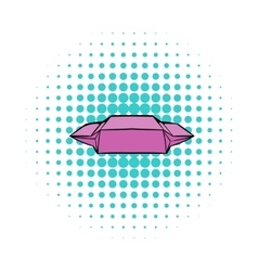 Lunch paper wrap iconcomics style vector