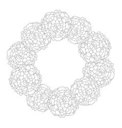 marigold wreath outline vector image