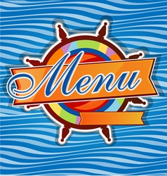 men restaurant with rudder vector image vector image