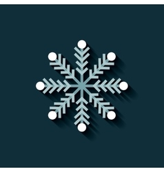 merry christmas snowflake icon vector image