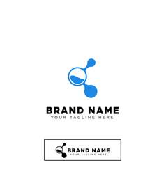 molecular logo design template icon element vector image