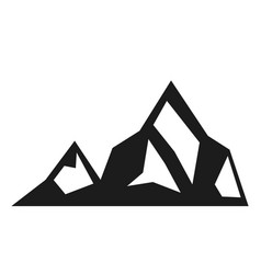 mountain black icon environment and adventure vector image