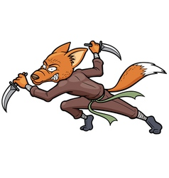 Ninja fox vector image