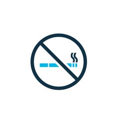 no smoking icon colored symbol premium quality vector image