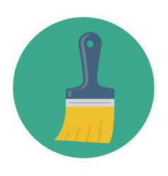 paint brush flat icon vector image