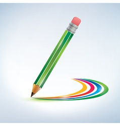 Pencil drawing a rainbow background vector