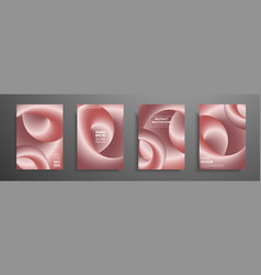 pink gold templates set with abstract elements vector image