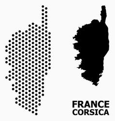 Pixel pattern map corsica vector