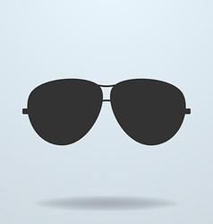Police or cop sunglasses glasses black icon vector