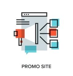 Promo site vector