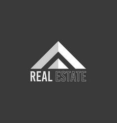 real estate architecture logo vector image