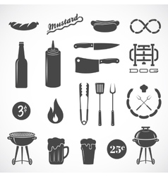 Sausage Flat Icons and Design Elements Such vector image