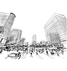 seoul the republic of korea vector image