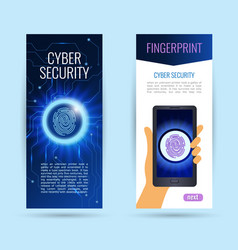 set vertical roll up information privacy idea or vector image