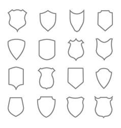 shield coat outline badge police crest vector image