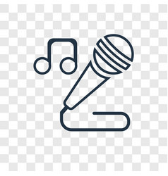 singer concept linear icon isolated on vector image