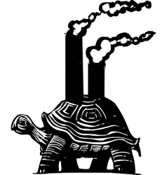 Smokestack Turtle vector image