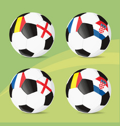 soccer silhouettes-10 vector image