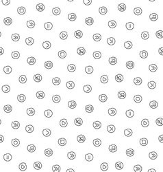 Sound voice multimedia seamless pattern vector image