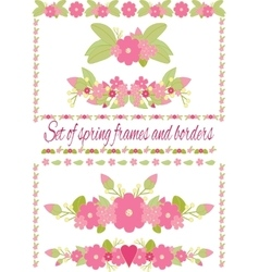 Spring frames and borders isolated vector image