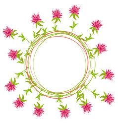 summer round frame of clover flowers vector image