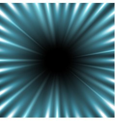 tunnel of light aqua color vector image