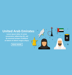 united arab emirates banner horizontal concept vector image