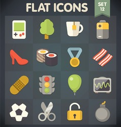 Universal Flat Icons for Applications Set 11 vector image
