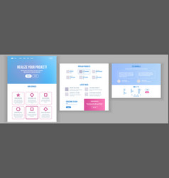 website template page business technology vector image