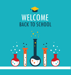 welcome back to school background chemistry theme vector image