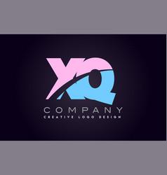 Xq alphabet letter join joined letter logo design vector