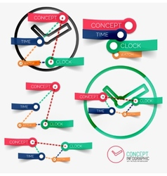 clock infographic and keywords vector image