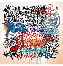 graffiti tags street art background vector image