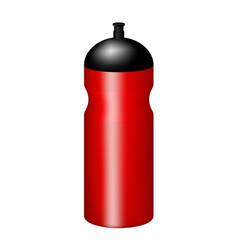 Sport plastic water bottle in red design vector